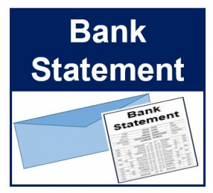 Reading a Bank Statement